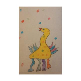 #ABC kunst door Kinderen, de Eend van Pasen Canvas Prints