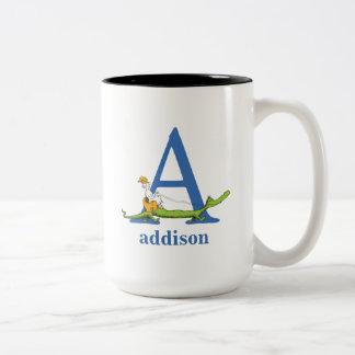 ABC van Dr. Seuss's: Brief A - Blauwe | voegen Uw Tweekleurige Koffiemok