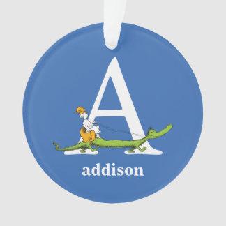 ABC van Dr. Seuss's: Brief A - Witte | voegen Uw Ornament