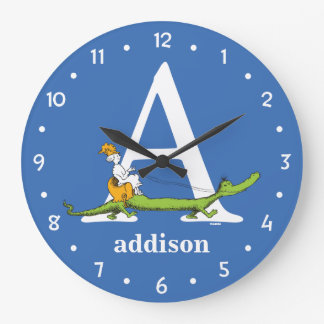 ABC van Dr. Seuss's: Brief A - Witte | voegen Uw Ronde Klok Large