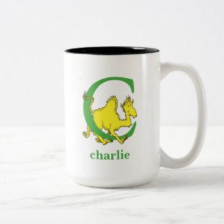 ABC van Dr. Seuss's: Brief C - Groene | voegen Uw Tweekleurige Koffiemok