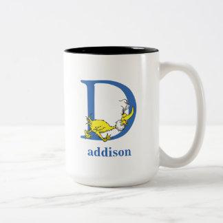 ABC van Dr. Seuss's: Brief D - Blauwe | voegen Uw Tweekleurige Koffiemok