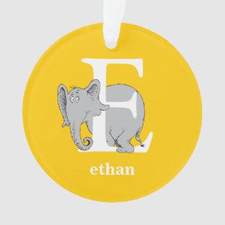 ABC van Dr. Seuss's: Brief E - Witte | voegen Uw Ornament