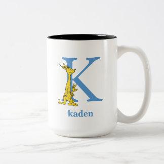 ABC van Dr. Seuss's: Brief K - Blauwe | voegen Uw Tweekleurige Koffiemok