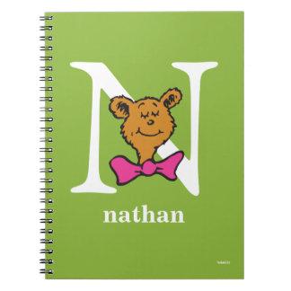 ABC van Dr. Seuss's: Brief N - Witte   voegen Uw Notitieboek