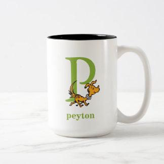 ABC van Dr. Seuss's: Brief P - Groene | voegen Uw Tweekleurige Koffiemok