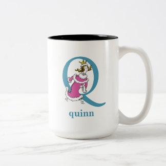 ABC van Dr. Seuss's: Brief Q - Blauwe | voegen Uw Tweekleurige Koffiemok