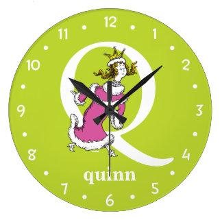 ABC van Dr. Seuss's: Brief Q - Witte | voegen Uw Grote Klok
