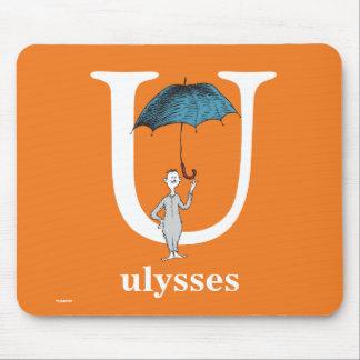 ABC van Dr. Seuss's: Brief U - Witte | voegen Uw Muismat