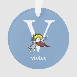ABC van Dr. Seuss's: Brief V - Witte | voegen Uw Ornament