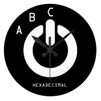 ABC van HEXADECIMALS Grote Klok