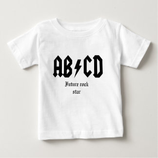 ABCD Toekomstige rotsster Baby T Shirts