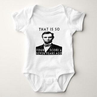 Abe Lincoln die zo is Vier noteert & Zeven Years Romper