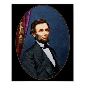 Abe Lincoln Portrate Poster