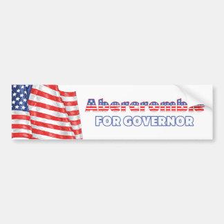 Abercrombie voor de Patriottische Amerikaanse Vlag Bumpersticker