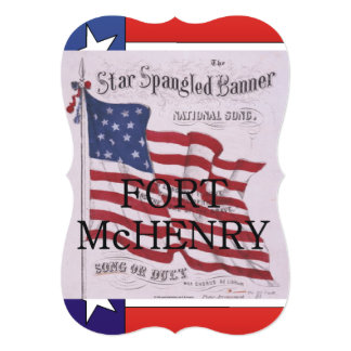 ABH Fort McHenry 12,7x17,8 Uitnodiging Kaart