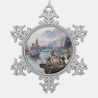 ABH Lewis en Clark NHS Tin Sneeuwvlok Ornament
