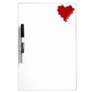 Abigail. De rode verbinding van de hartwas met Whiteboards