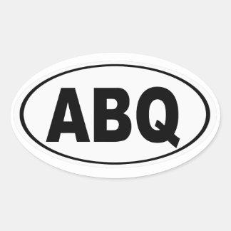 ABQ Albuquerque New Mexico Ovale Sticker