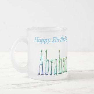 Abraham Happy Birthday Logo, de Berijpte Mok van