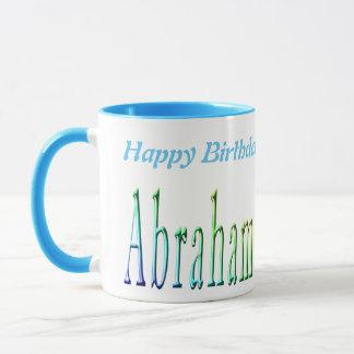 Abraham Happy Birthday Logo, de Blauwe Mok van de