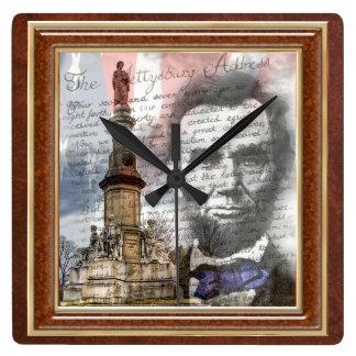 "Abraham Lincoln 10.75 "" Vierkante Klok"