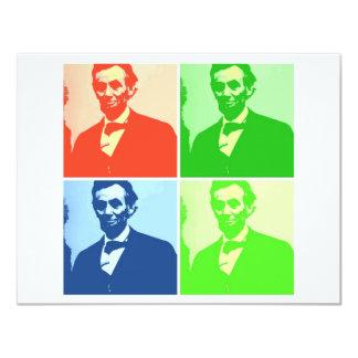 Abraham Lincoln 10,8x13,9 Uitnodiging Kaart