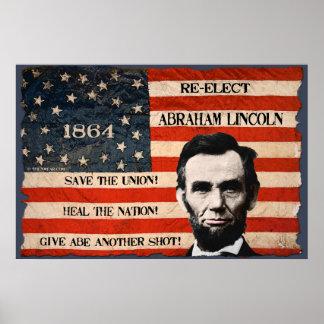 Abraham Lincoln 1864 het Poster van de Muur van de