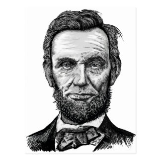 Abraham Lincoln Briefkaart