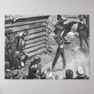 Abraham Lincoln die Poster worstelen