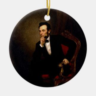 Abraham Lincoln door George Peter Alexander Healy Rond Keramisch Ornament