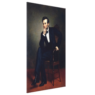 ABRAHAM LINCOLN door George Peter Alexander Healy Stretched Canvas Afdruk