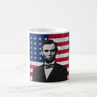 Abraham Lincoln en de Amerikaanse Vlag Koffiemok