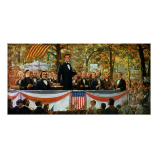 Abraham Lincoln en Stephen A. Douglas Poster