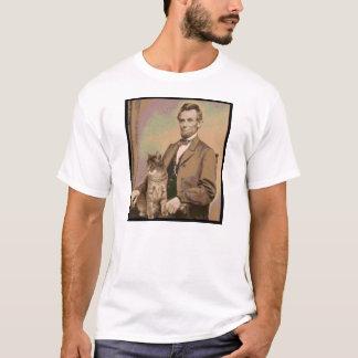 "Abraham Lincoln en zijn kat ""Dixie "" T Shirt"