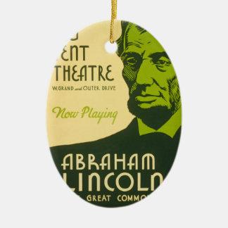 Abraham Lincoln Grote Gemeenschappelijker Keramisch Ovaal Ornament