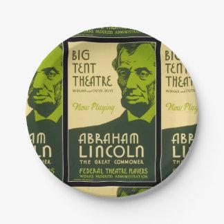 Abraham Lincoln Grote Gemeenschappelijker Papieren Bordje