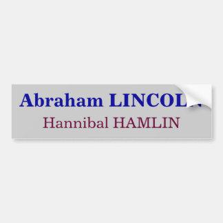 Abraham Lincoln, Hannibal Hamlin Bumpersticker