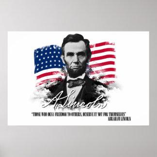 Abraham Lincoln Hen Die ontkent het Poster van de