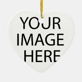 Abraham Lincoln Keramisch Hart Ornament