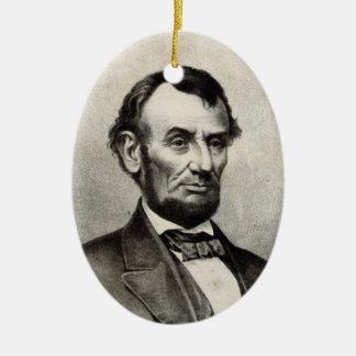 Abraham Lincoln Keramisch Ovaal Ornament