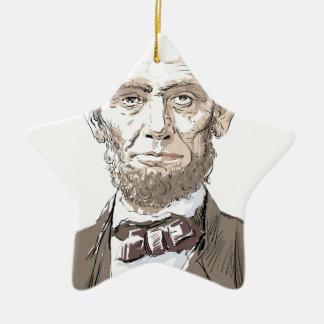 Abraham Lincoln Keramisch Ster Ornament