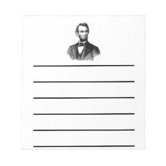 Abraham Lincoln Notitieblok