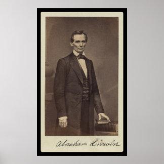 Abraham Lincoln Ondertekende Kaart 1860 Poster