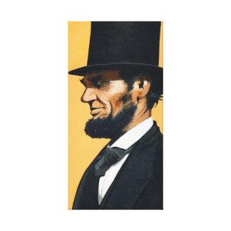 "Abraham Lincoln - Origineel ""Schoolreis "" Canvas Afdruk"