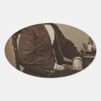 Abraham Lincoln Ovale Sticker