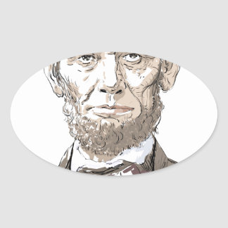 Abraham Lincoln Ovale Stickers