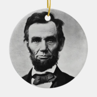 Abraham Lincoln Rond Keramisch Ornament
