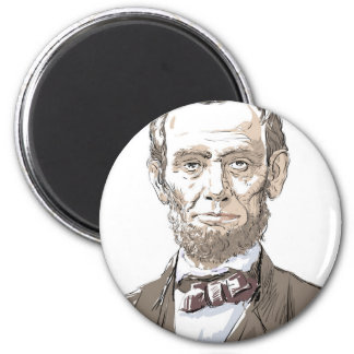 Abraham Lincoln Ronde Magneet 5,7 Cm
