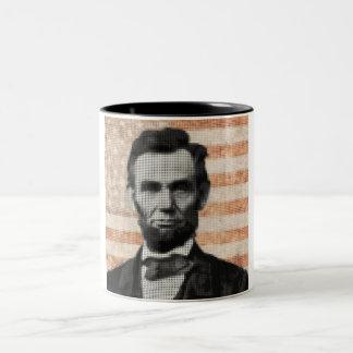 Abraham Lincoln Tweekleurige Koffiemok